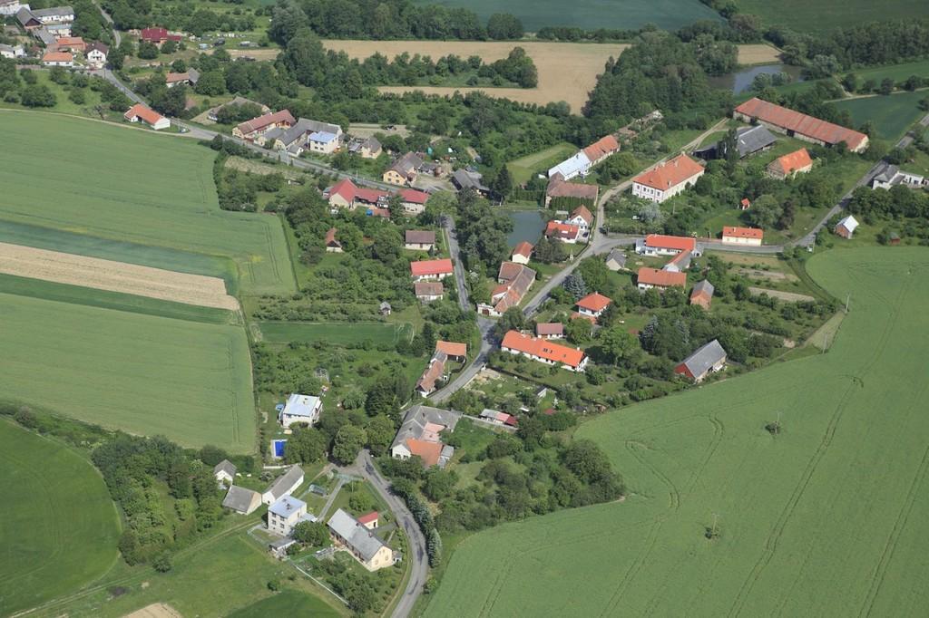 Letecký pohled Nová Lhota