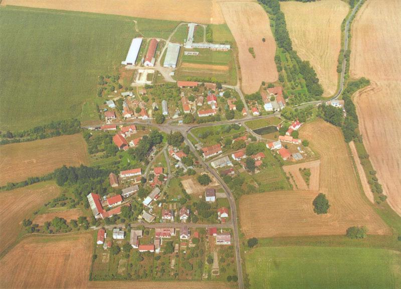 Letecký pohled na Olšany